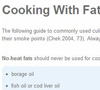 Cooking With Fats
